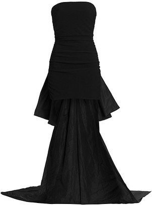 Cinq à Sept Zoe Strapless High-Low Gown