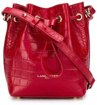 Lancaster croc effect bucket bag