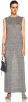 Alexander Wang Heather Linen Jersey Long Muscle Dress