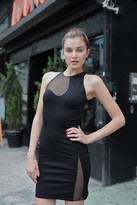Alexander Wang Slim Dress w/Netting Cutout Detail