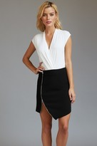 Dynamite Asymmetrical Mini Skirt with Zip