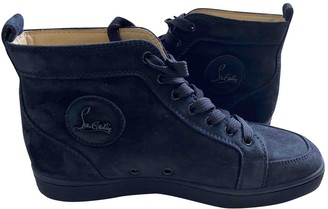 Christian Louboutin Navy Suede Trainers