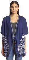 JWLA Women's Draped Poncho Cardigan