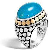 John Hardy Women's Dot Silver & Turquoise Dome Ring