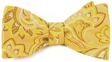 The Tie Bar Gold Organic Paisley Bow Tie