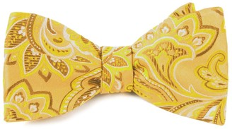 Tie Bar Organic Paisley Gold Bow Tie