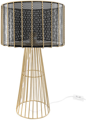nuLoom 21In Jo Gold Wired Iron Table Lamp