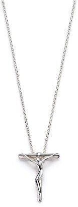 Tiffany & Co. Elsa Peretti crucifix pendant in sterling silver, 27 mm wide