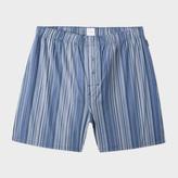 Paul Smith Men's Navy Signature Stripe Cotton Boxer Shorts