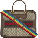 Gucci Web stripe GG Supreme canvas briefcase