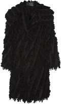 Donna Karan Oversized fringed alpaca-blend coat