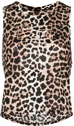 P.E Nation Leopard Print Tank Top