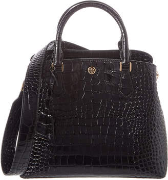 Tory Burch Robinson Triple Compartment Croc-Embossed Leather Tote
