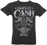 Amplified Mens Charcoal Johnny Cash Eagle T Shirt from