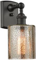 Innovations Lighting Cobbleskill 1-Light Sconce, Mercury Glass, Oil Rubbed Bronze