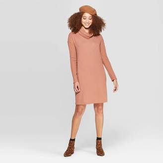 A New Day Women's Easy Fit Long Sleeve Sleeve Cowl Neck Knit Dress