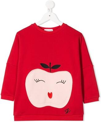 Sonia Rykiel Enfant Apple-Embroidery Cotton Sweatshirt