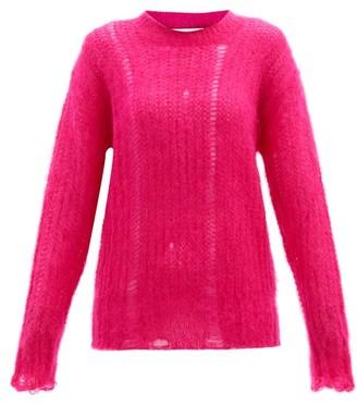 Golden Goose Distressed Mohair-blend Sweater - Pink