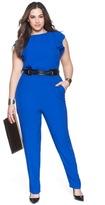 ELOQUII Plus Size Ruffle Sleeve Jumpsuit