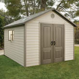 """Lifetime 10 ft. 4 in W x 12 ft. 10"""" D Plastic Storage Shed"""