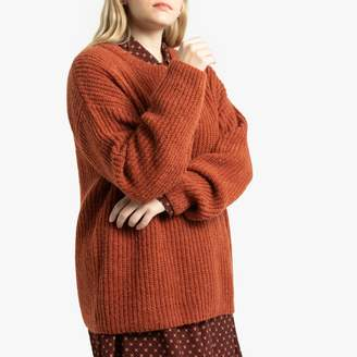 La Redoute Collections Plus Chunky Knit Ribbed Jumper with Round Neck