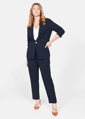 MANGO Violeta BY Slim fit suit blazer dark navy - S - Plus sizes