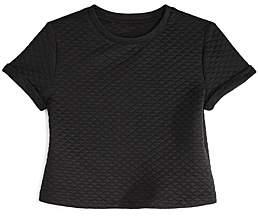 Aqua Girls' Quilted Short Sleeve Top, Big Kid - 100% Exclusive