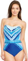 Gottex Blue Jasmine Bandeau Swimsuit
