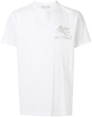 Etro Pegaso logo patch T-shirt