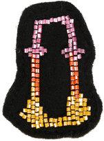 Olympia Le-Tan O bag patch - women - Wool Felt/glass - One Size