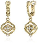 "Judith Ripka Stella"" Small Dangle Earring with Diamond Earrings (1/10cttw, H-I Color, VS2-SI1 Clarity)"