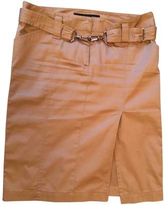 Barbara Bui Camel Cotton Skirt for Women