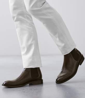 Reiss Tenor - Leather Chelsea Boots in Dark Brown