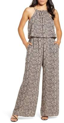 Gibson X Living in Yellow City Safari Popover Wide Leg Jumpsuit