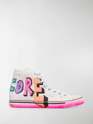 Vetements Harcore Happiness high-top sneakers