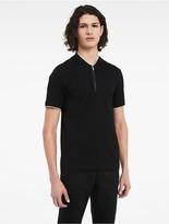 Calvin Klein Platinum Racing Stripe Zip Polo Shirt