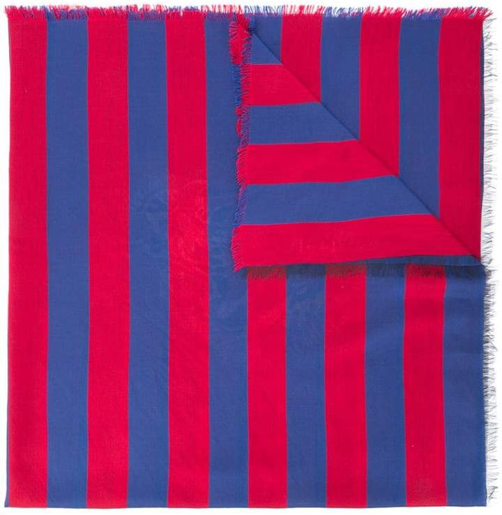 Gucci striped tiger jacquard scarf