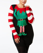 It's Our Time Trendy Plus Size Elf Tunic Sweater