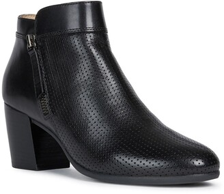 Geox Lucinda Perforated Leather Ankle Boot
