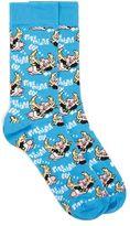 Topman Blue Pigs Might Fly Slogan Socks
