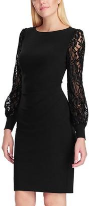 Chaps Women's Long Sleeve Side Drape Dress