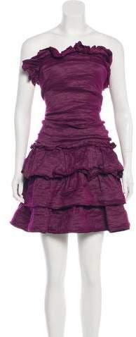 Lanvin Metallic Ruffled Dress w/ Tags