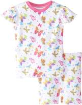 New Jammies Little Girls' Butterfly Magic Organic Cotton Pajama Short Set