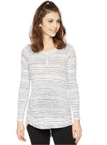 A Pea in the Pod Maternity Striped Henley Top