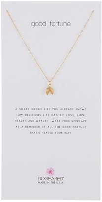 Dogeared Good Fortune Fortune Cookie Pendant Necklace