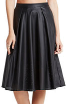 BCBGeneration Faux-Leather Midi Skirt