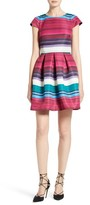 Ted Baker Women's Blushing Bouquet Stripe Fit & Flare Dress