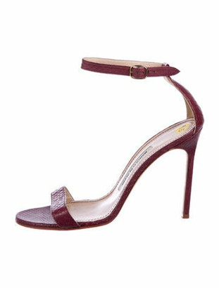 Manolo Blahnik Leather Sandals Purple
