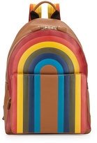 Anya Hindmarch Rainbow Calfskin Leather Backpack, Caramel