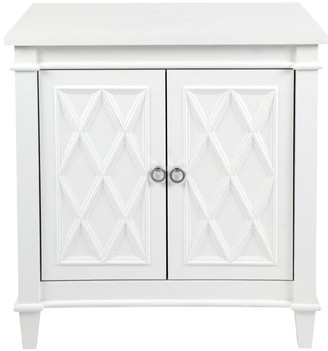 Cafe Lighting Plantation Cabinet/bedside Table White